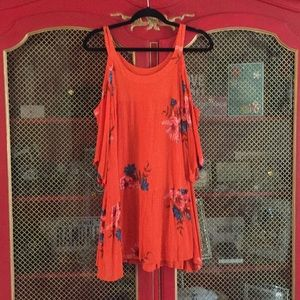 O'Neil Orange dress with  cut out sleeves